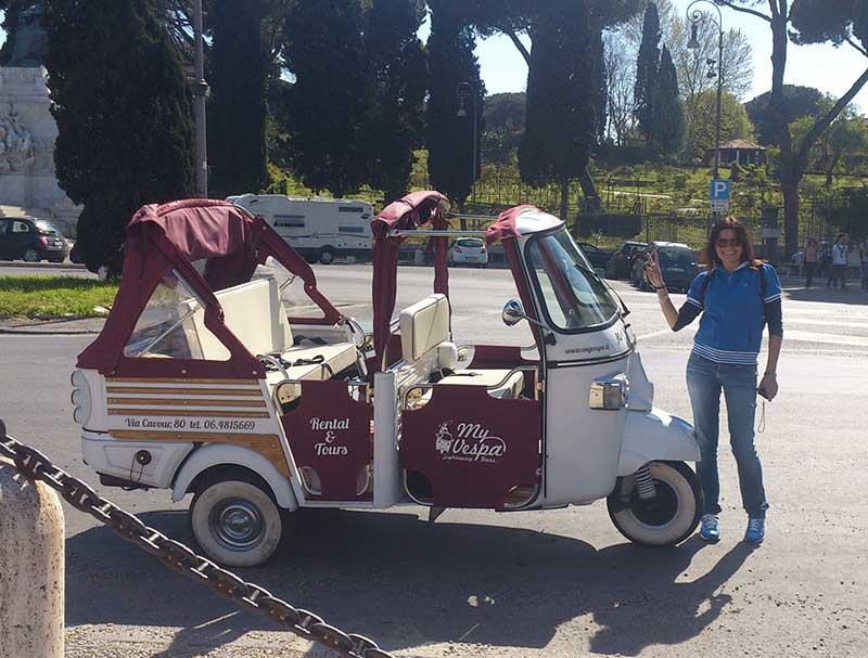 Tour de Rome en Vespa Ape Calessino