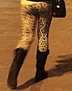 Le legging à imprimés revient à la mode