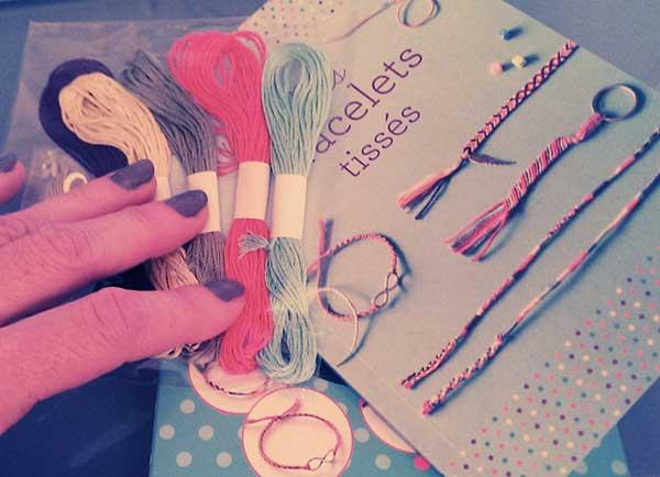 bracelets tissés - salon DIY Paris