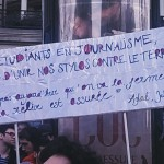 Marche Républicaine - étudiants en journalisme Paris